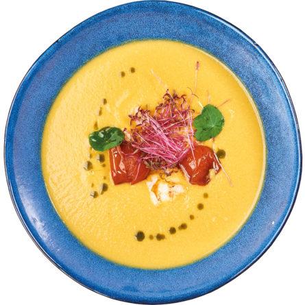 Кукурудзяний суп з креветкою на кокосовому молоці